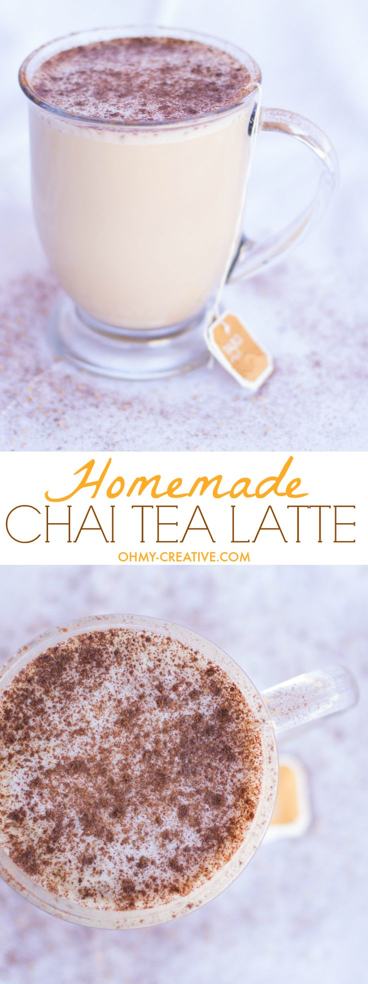 Do you spend too much money on specialty coffees and teas? Here's a solution for the perfect homemade Chai Tea Latte and a way to save money! | OHMY-CREATIVE.COM