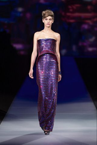 Samantha Gradoville. Runway.  One & Only. Armani Retrospective.