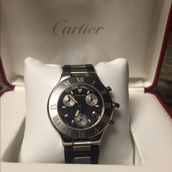 Cartier Chronoscaph mens watch Mens Cartier watch in good condition. Just had is serviced as well. Cartier Accessories Watches