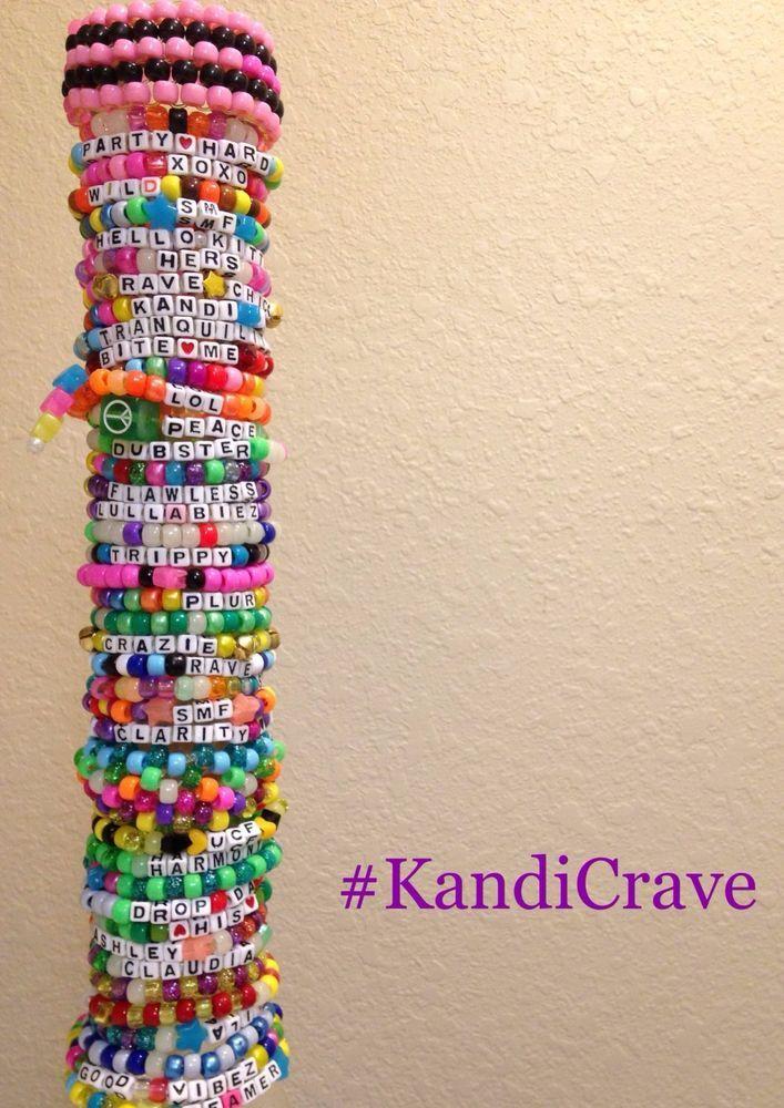 20 Single Random Kandi Bracelets For Edm Rave Festivals In 2018 Pinterest And