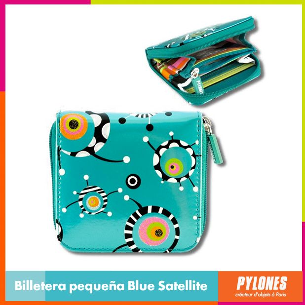 #Billetera pequeña Blue Satellite #DíaDeLaMujer  Pylones Colombia