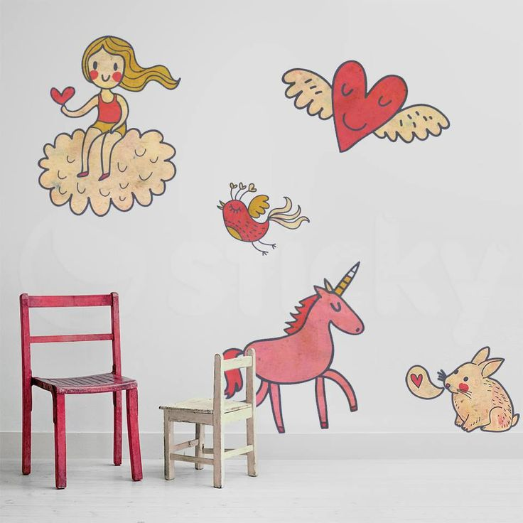 Fabric Wall Sticker HEART WORLD By Sticky! Part 92