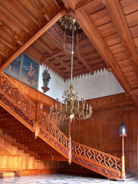 Státní zámek Lednice, Czech Republic - An 1800s palace built on a Renaissance chateau & Gothic fort - staircase