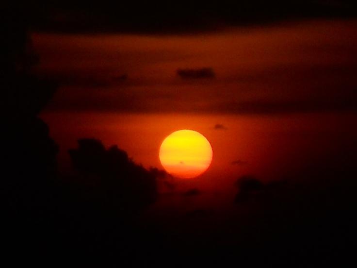 Gorgeous sunset from Jimbaran Hill, Bali.