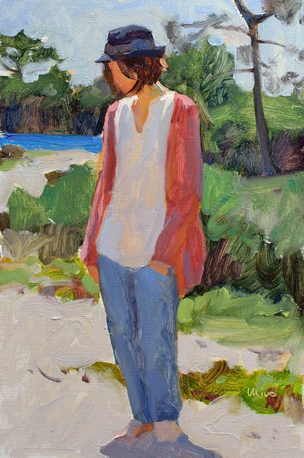 Lena Rivo's Painting Blog: Figure in sunlight - April 14, 2015