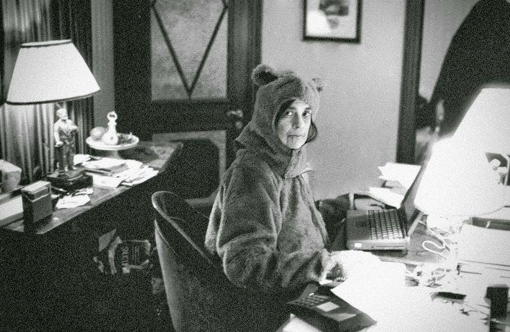 Susan Sontag in a bear suit