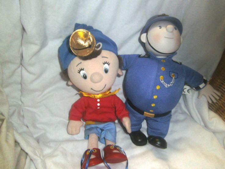 "Noddy & Mr Plod Policeman - 12"" & 11"" H - soft toys"