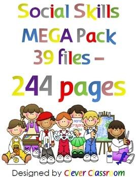 Social Skills MEGA Pack Worksheets, Program