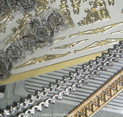 Various small scale trims suitable for use with dollhouse scale furniture.