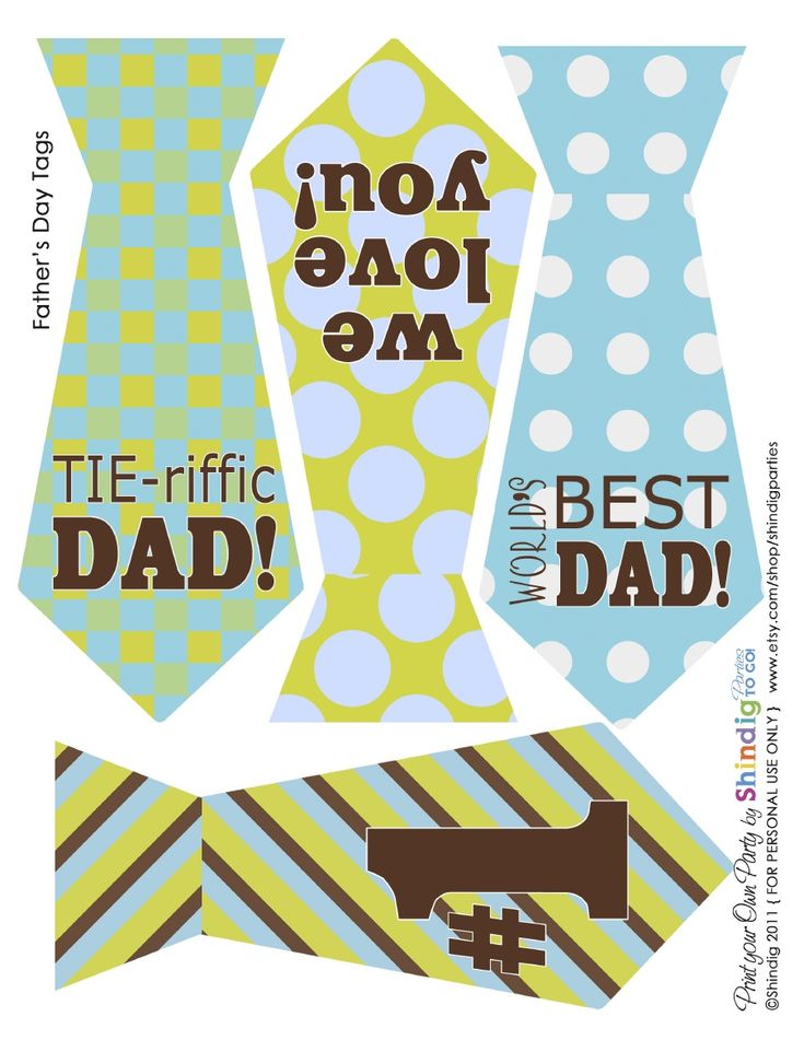 Cute Father's Day printables
