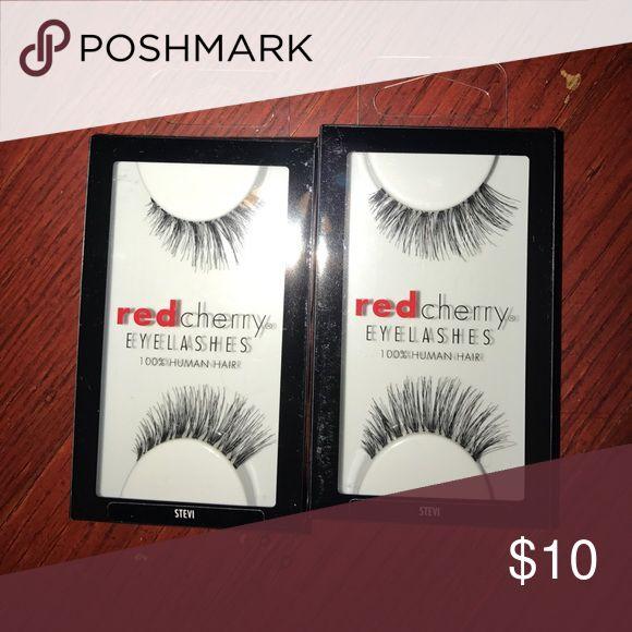 Red Cherry eyelashes Two brand new set of red cherry eyelashes 💯% Hunan hair. Style: Stevi #43 Makeup False Eyelashes