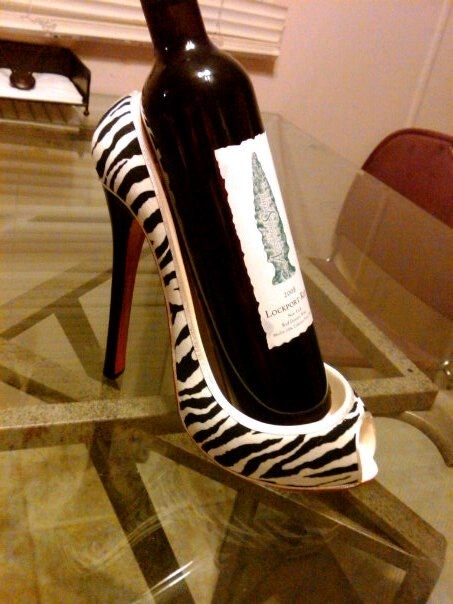A shoe wine holder! :p