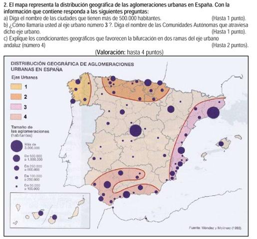 2008. Aglomeraciones urbanas (mapa de 1993).
