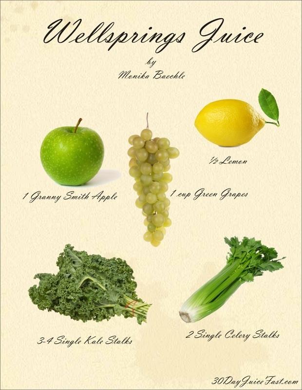 Wellsprings Juice Recipe, Visual Recipe ♥ #juicing #juice