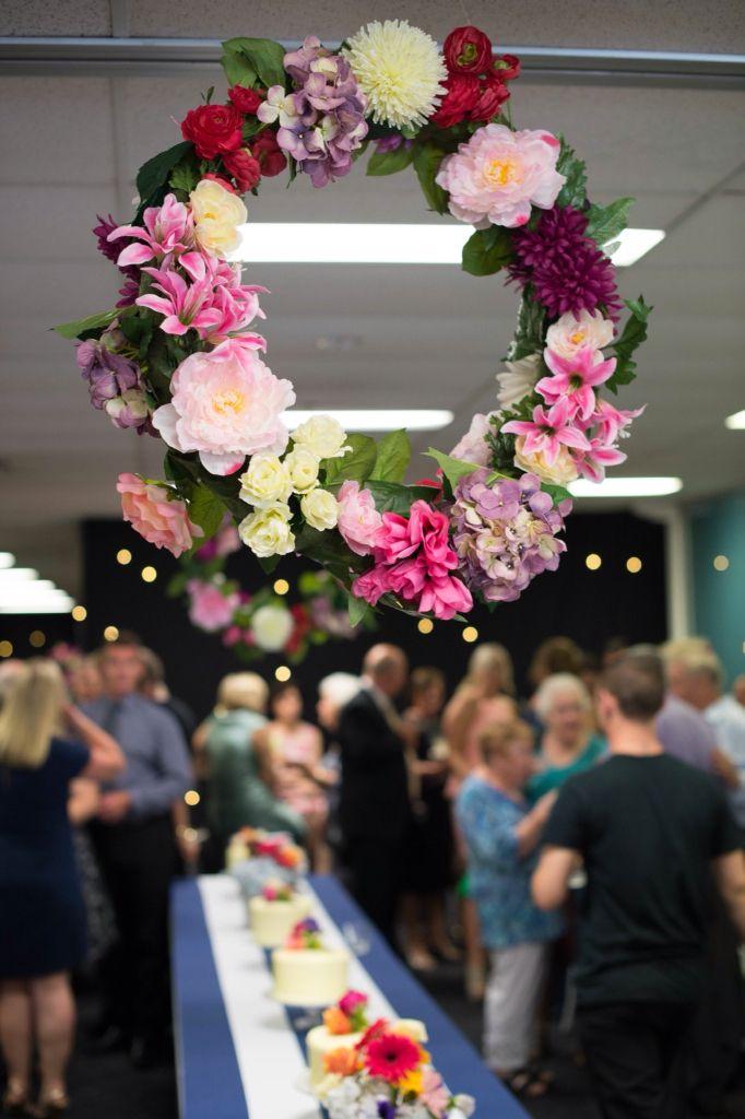 Sydney wedding, navy and white, floral wreath, DIY wreath, wedding reception, Photography: Milque Photography