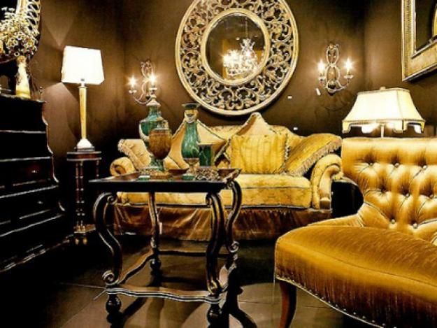 art deco interiors, modern interior design and decor, room furniture and lighting fixtures