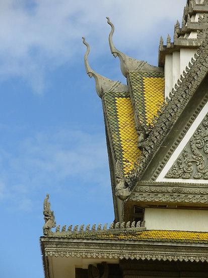 Yellow Roof Detail  Cambodia