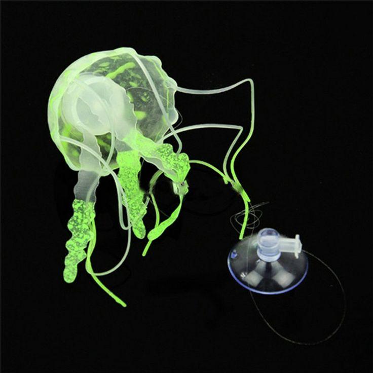 Belleza Fluorescente Efecto Brillante Medusas Acuario Ornamento Swim Piscina Decoración