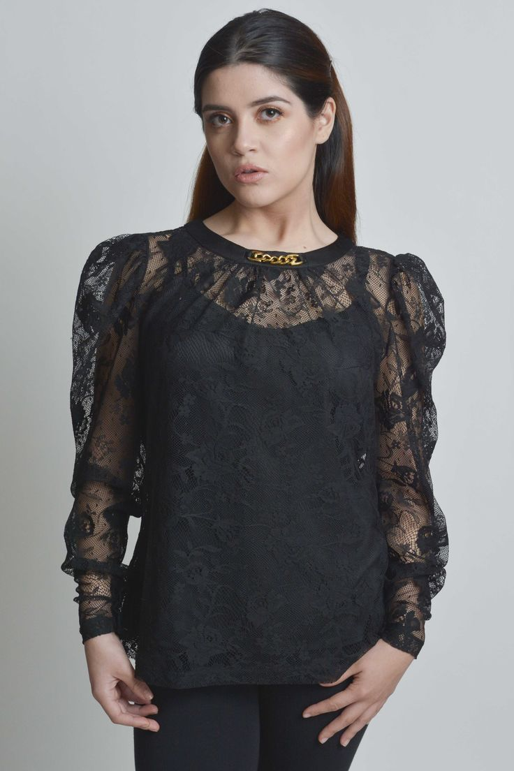 ScruplesCollections.com / #top #shirt #lace #lacetop #laceshirt