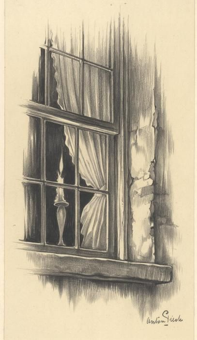 Anton Pieck - Originele tekening - Catharine Carter - (1956)