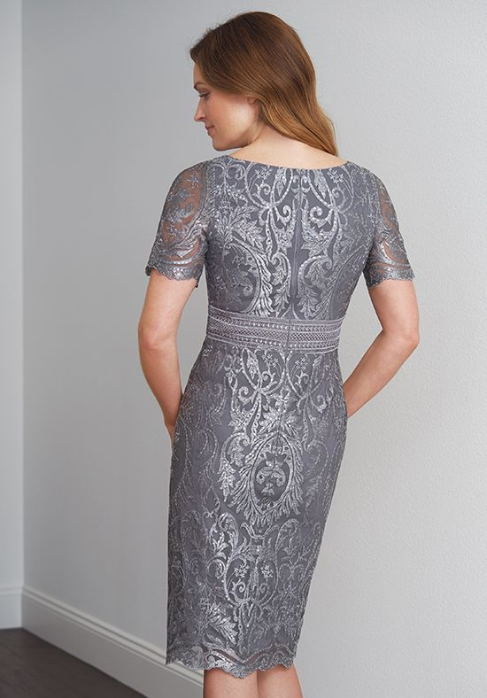 Jasmine Black Label M200060 Silver Mother Of The Bride Dress