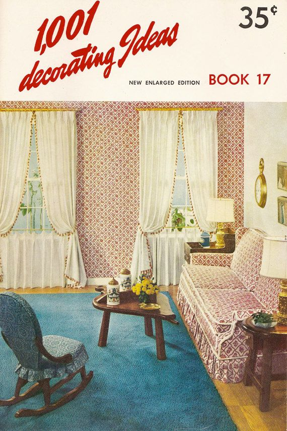 Vintage 1001 Decorating Ideas Book 17 1960 Mid Century