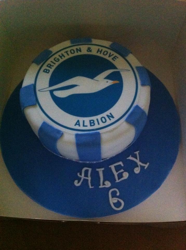 #BrightonandHoveAlbionFootballCake #BHAcake by Chris's Top Cakes