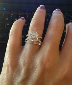 diamond split shank engagement ring raised setting - Google Search