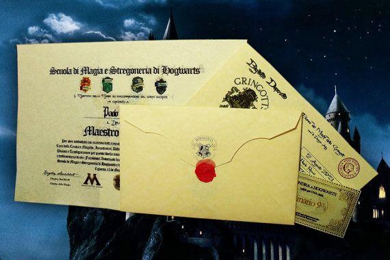 Lettera di ammissione ad HOGWARTS - completamente personalizzabile - Pacchetto Completo