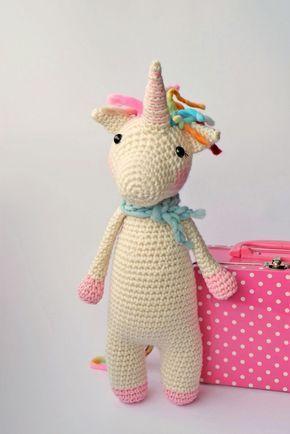 Patrón gratis amigurumi de precioso unicornio rosa