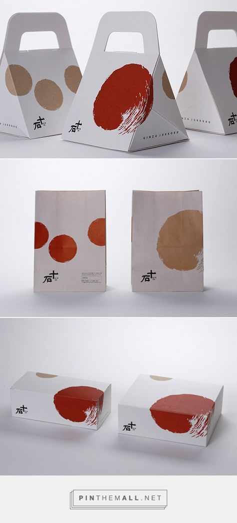 Graphic design, logo and packaging for GINZA JUKKOKU via AWATSUJI design by Wakyo-Shoten curated by Packaging Diva PD. Simple love this packaging.