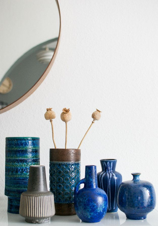 vintage blue ceramics collection At Mine launch - Hege in France photo by at{mine} Igor Josifovic