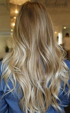 For Ashley / Ash Blonde Ombre / Russian Human Hair / Body ...