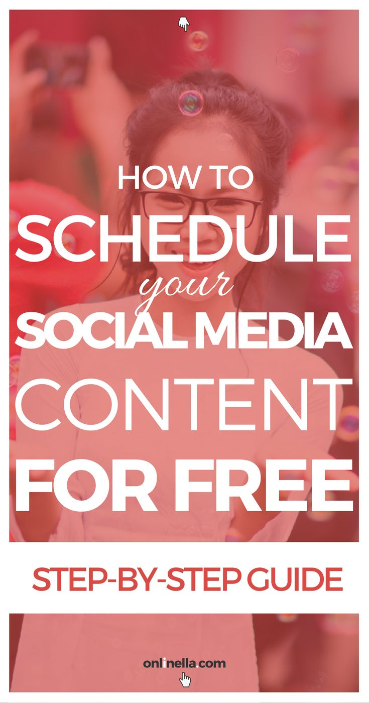 How to schedule your social media content for free