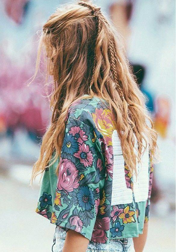 Summer Braids :: Beach Hair :: Natural Waves :: Long Blonde Boho Festival :: Messy Manes :: Free your Wild :: See more Untamed DIY Simple Easy Ha