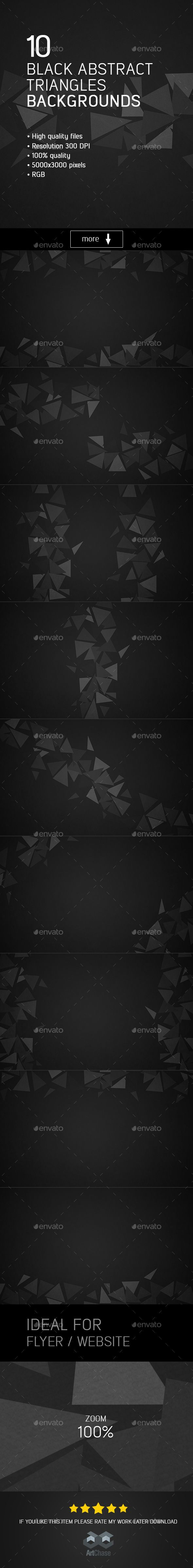 #Black Abstract Triangles #Backgrounds - Backgrounds Graphics