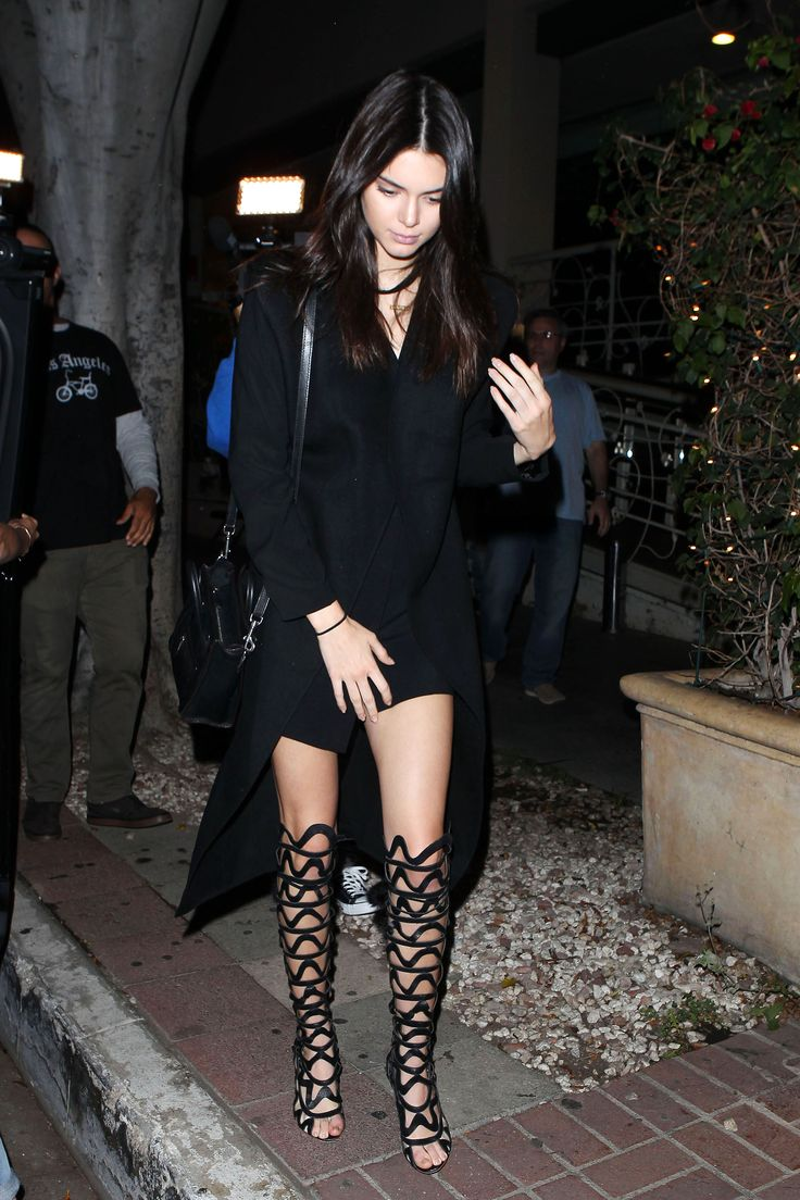 Who: Kendall Jenner What: Open Gladiator Boots Why: The rising style icon brings her best summer black in a mini dress paired with statement shoes by Sophia Webster. Get the look now: Sophia Webster sandals, $2,250, sophiawebster.com.   - HarpersBAZAAR.com