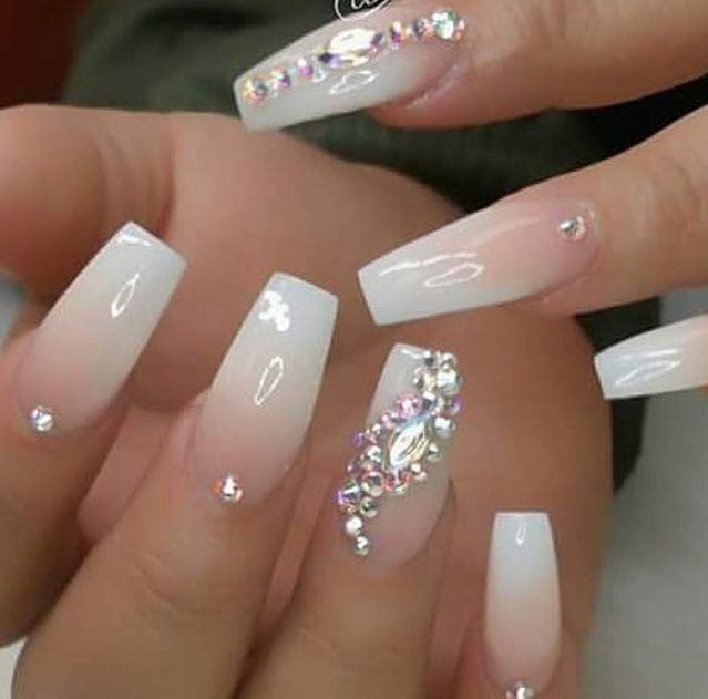 Pin By C A S E Y On Nails Nail Designs Bling Nails Design With Rhinestones Rhinestone Nails