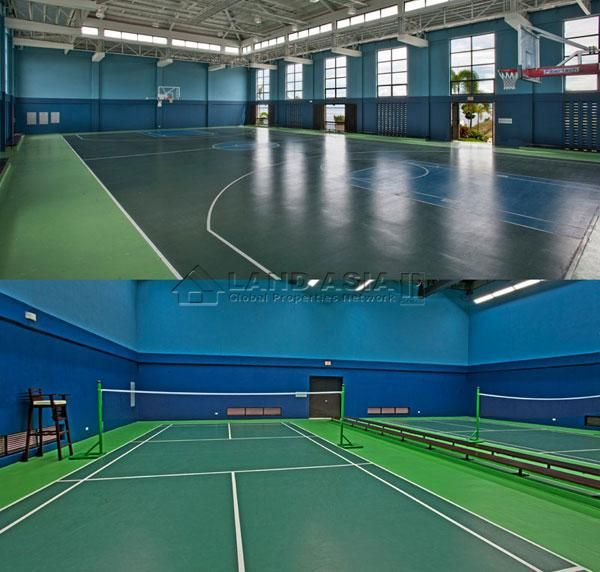 Sports Recreation Club Covered Basketball Court With A