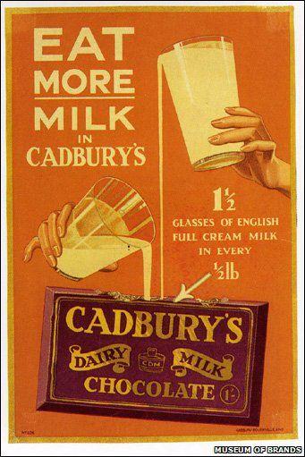 Publicidade de chocolate antiga