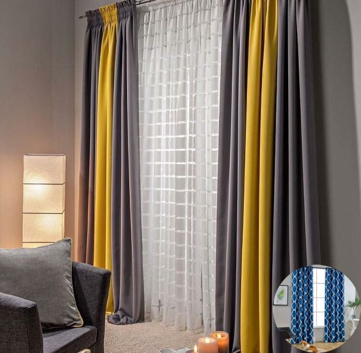 Curtains Solid Color And Curtain Color And Mood Simple Ideas For Kitchen Deco Yellow Curtains Living Room Living Room Decor Gray Colorful Curtains Living Room