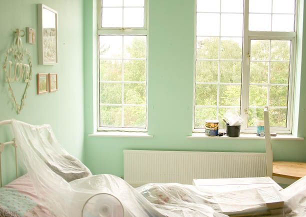 mint walls. Would love this for our bedroom.
