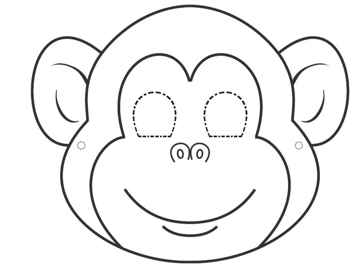 Best 25 monkey mask ideas on pinterest cardboard mask for Children s mask templates