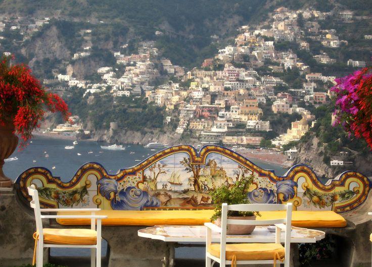 View of Positano from Il San Pietro di Positano, Positano, Amalfi Coast, Campania, Italy www.italyunfettered.com