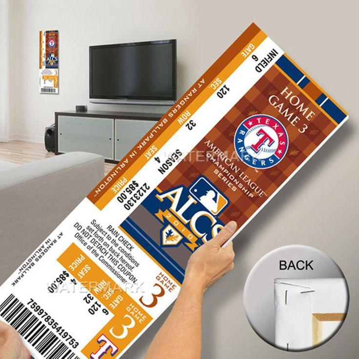 Texas Rangers 2010 ALCS Champions Mega Ticket - $63.99