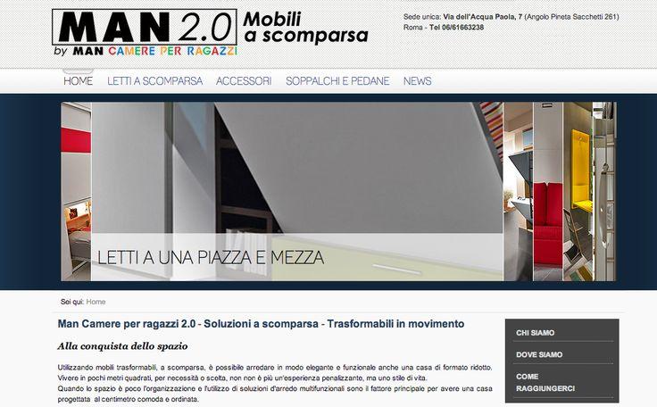Realizzazione Sito Web MAN Camera per ragazzi http://www.mancamere.com/#