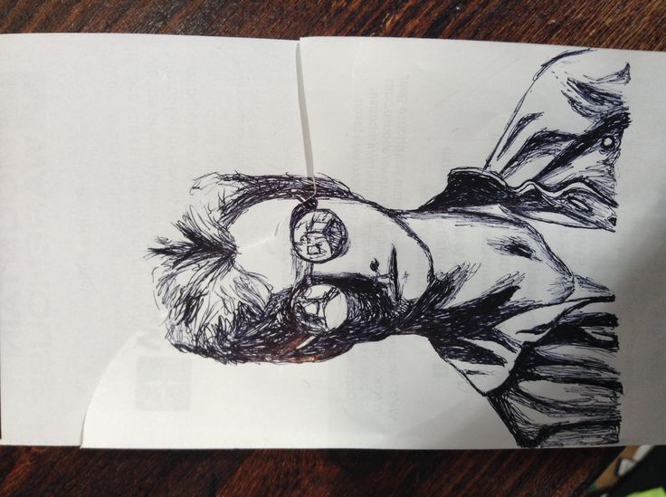 Sting in 'The Police' drawing, July 2014.