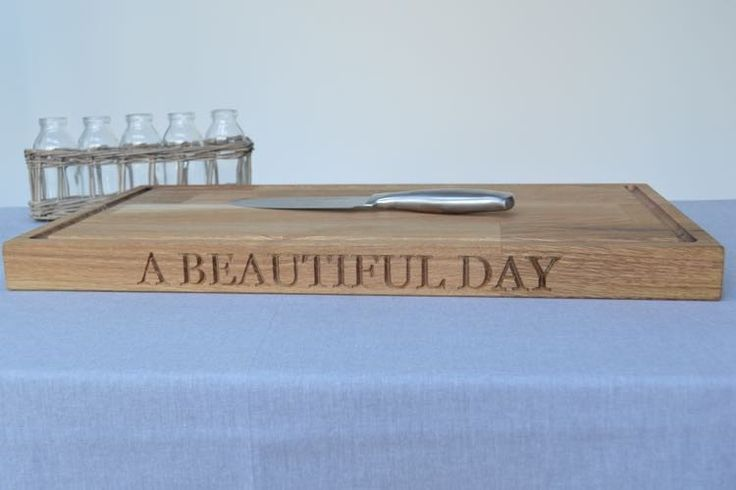 Really Big Oak Carving Board, looks beautiful in any kitchen and will really implement the oak cupboards too! £195.00 From The Oak Tree
