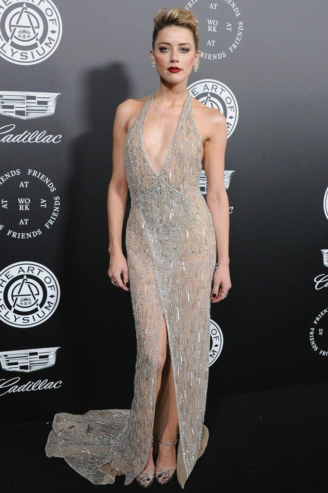 Golden Globes 2018 Afterparty Dresses - Amber Heard
