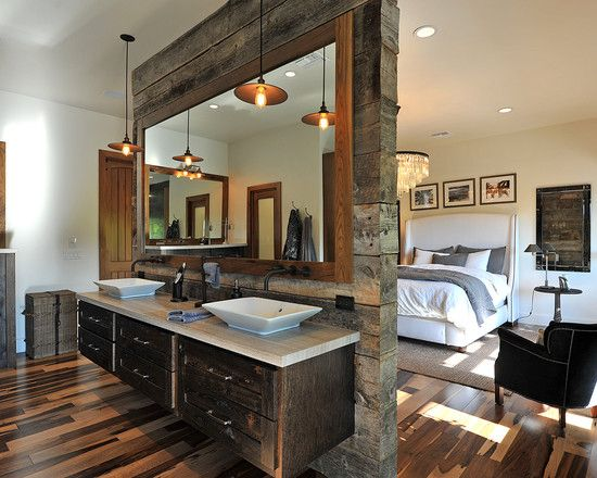 I am in love with this beam wall!